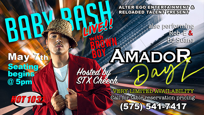 Amador Live – Baby Bash